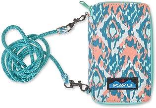 KAVU Go Time Bi-Fold Clutch Wallet with Crossbody Rope Strap