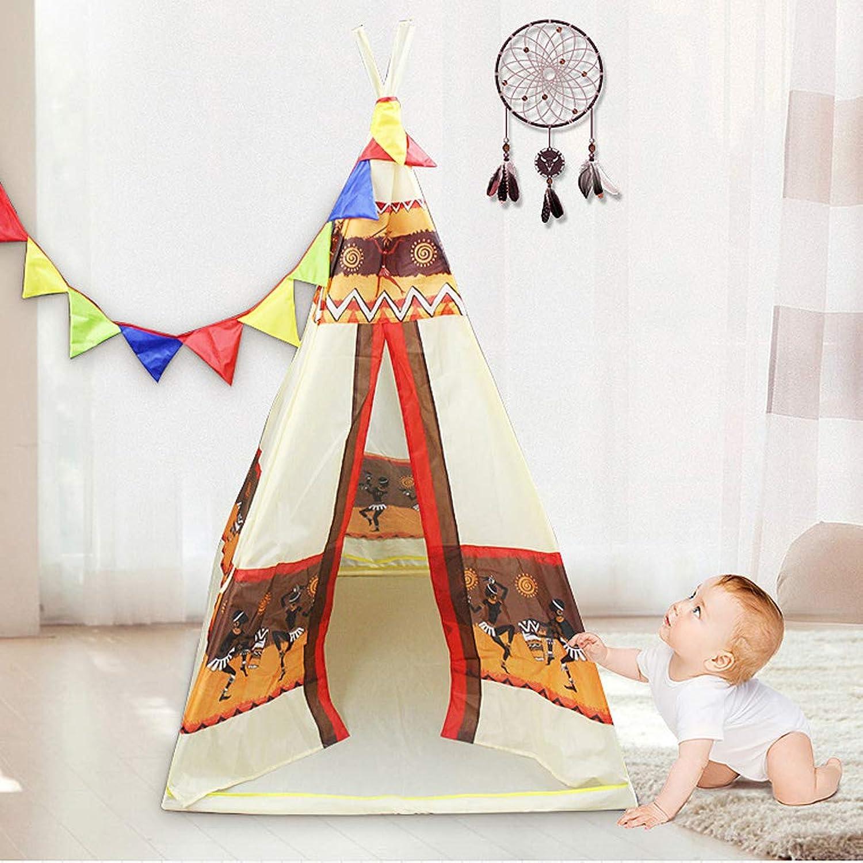 CDZNIU Teepee Kinder Indian Playhouse Baumwollsegeltuch für Kinder Spielzelt für Indoor oder Outdoor-Spiel 98x98x155CM