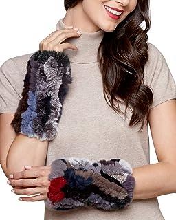 frr Knit Rex Rabbit Fingerless Gloves in Multi-Color