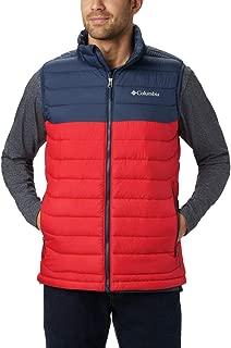 Men's Powder Lite Vest, Mountain Red, Collegiate Navy, Large