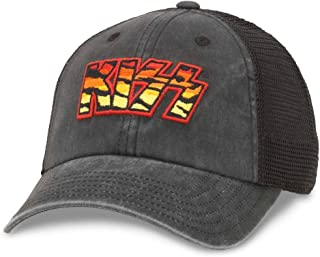 Kiss - Mens Raglan Bones Snapback Hat