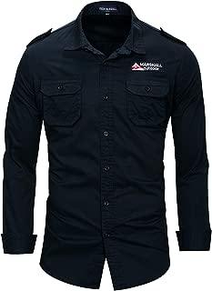 Men's Button Down Casual Pocket Jean Shirt