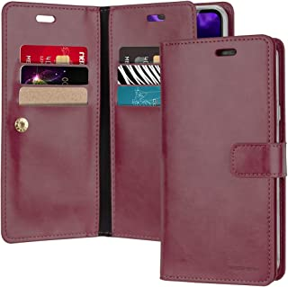GOOSPERY LG V40 Case, LG V40 ThinQ Case [Extra Card & Cash Slots] Mansoor Diary [Double Sided Wallet Case] Premium PU Leat...