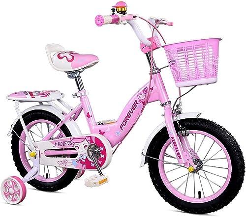 LJFYMX Vélo de Garçon Vélo Enfant Fille Rose 12 Pouces vélo 2-3-8 Ans Cadeau pour Enfants et Filles Vélo de Montagne