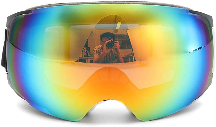 Casavidas Lunettes de Ski à Double lentille Magnet Prougeection UV Anti buée Cadre Blanc