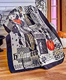 The Lakeside Collection Nevermore Quilted Halloween Throw Blanket