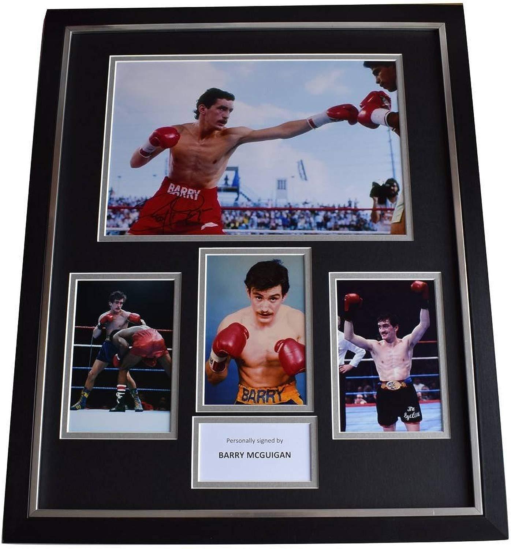 Sportagraphs Barry McGuigan SIGNED Framed Pcalienteo Autograph Huge display scatolaing Sport COA