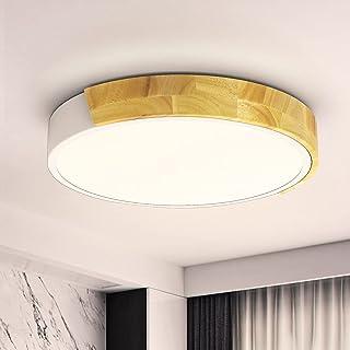 Plafonnier LED Plafonnier Moderne Plafonnier LED Rond Pour Plafond et Mur 24W 2400LM 4500K Blanc Neutre Pour Chambre à Cou...