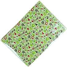 100 قطعة لوازم صنع نوجات عيد ميلاد مجيد ورق شمع لف حلوى الزفاف الأخضر