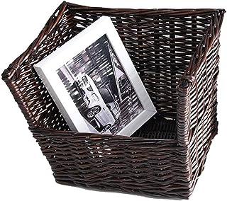 Rangement de dossiers Rotin tissage de bureau Bibliothèque Courrier Sorter Brown bureau Organisateur décoratifs rétro Maga...