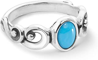Sterling Silver Sleeping Beauty Turquoise Gemstone Ring Size 5 to 10