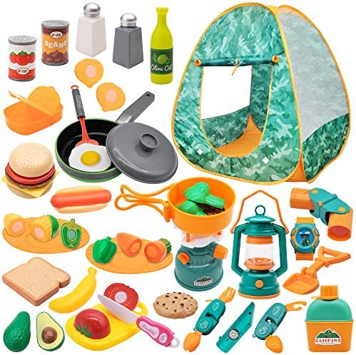 JOYIN Kids Camping Set with Tent 40 pcs Camping Gear Tool Pretend Play Set for Kids Toddlers product image