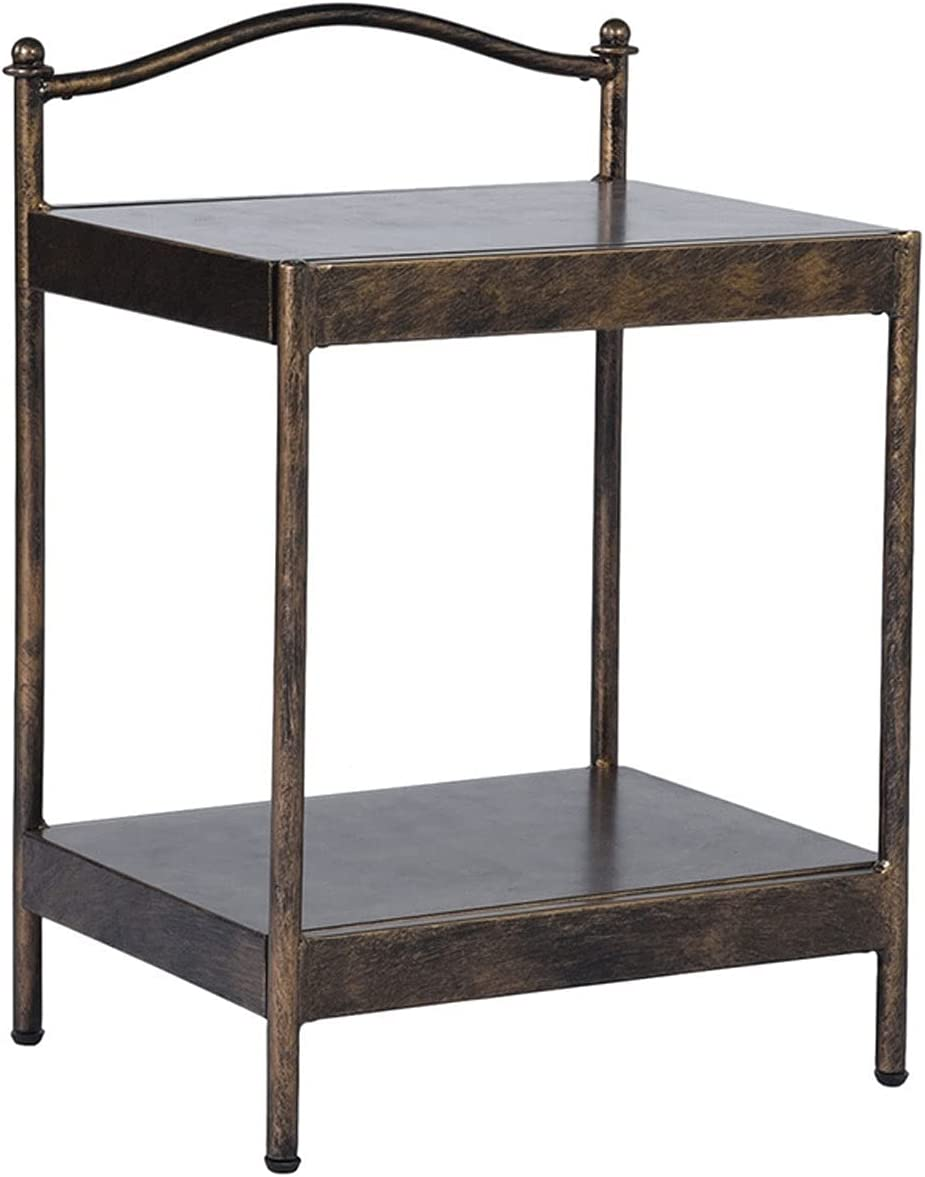 Austin Mall 2-Layer Metal Nightstand End Cheap SALE Start Side Printing Bedside Bronze Table