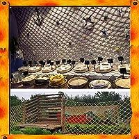子供用屋外ロープクライミングネット 麻縄ネット階段保護コンテナ貨物建設安全ロープネットレトロ装飾ネット園芸植物登りネットトレーラーネット ロープネットヘビー (Size : 4*4M)