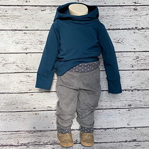 """Lilakind"""" Baby Kinder Hose Babyhose Kinderhose Pumphose Breit Cord grau Sterne Gr. 110/116 - Made in Germany - 2"""