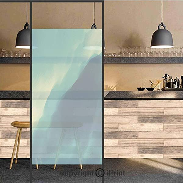 3D Decorative Privacy Window Films Oil Artwork Cloud Wave Image With Ombre Seem Colored Contemporary Artwork No Glue Self Static Cling Glass Film For Home Bedroom Bathroom Kitchen Office 24x71 Inch