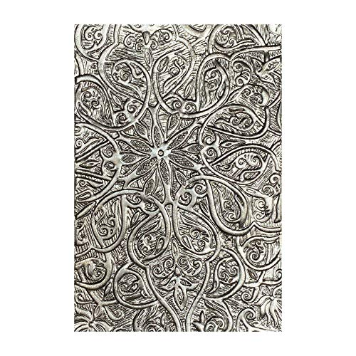 Sizzix 664249-Carpeta de Grabado en Relieve, Textura 3-D, de Tim Holtz Cutting dies, Engraved, Talla única