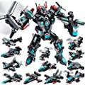 LUKAT STEM Robot Sets for Boys Age 5 6 7 8 9 10 11 Year Old, 577 PCS Building Toy Kit, 25-in-1 Building Bricks Educational Construction Set Engineering Toys, Activities Learning Gift for Kids Boys
