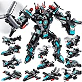 LUKAT STEM Robot Sets for Boys Age 5 6 7 8 9 10 11, 577 PCS Building Toy Kit, 25-in-1 Building Bricks Educational Construction Set Creative Engineering Toys, Activities Learning Gift for Kids Boys