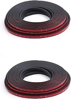 Bundle of 2,walmeck Car Door Seal Strips Auto Rubber Seals Sticker Noise Insulation B Shape Weatherstrip Rubber Seals Dust...