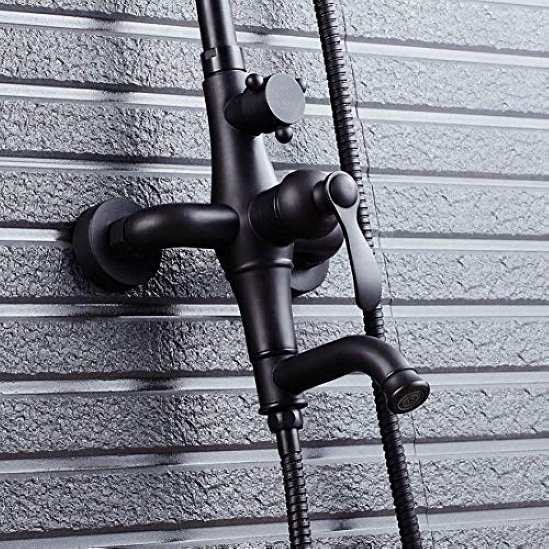 Willsego Duschset Handbrause Multifunktionsdusche schwarz schwarz Bronze Dusche Badezimmer Dusche