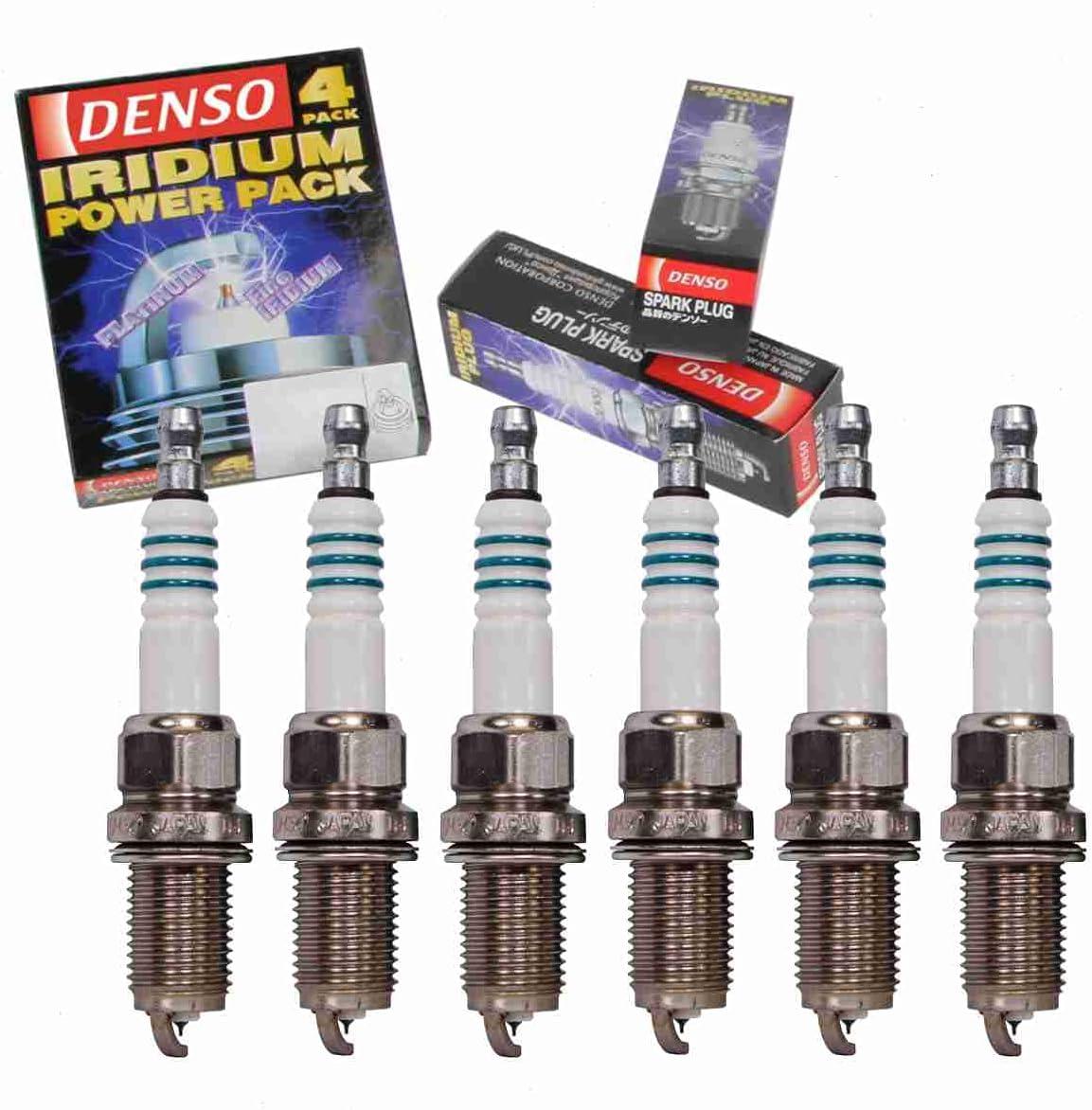 6 pc ブランド買うならブランドオフ DENSO Iridium Power with Plugs Mitsubishi compatible 男女兼用 Spark