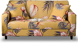 HOTNIU Funda Elástica de Sofá Funda Estampada para sofá Antideslizante Protector Cubierta de Muebles (3 Plazas, Impresión #Wy)