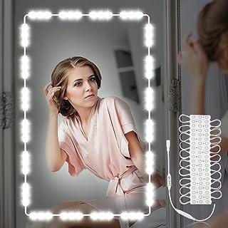 SUNHOO メイクアップライト LED女優ミラーライト ハリウッドライト ドレッサーライト DIY化粧ライト 浴室 洗面 化粧鏡ライト 柔らかい 調光可能 装飾 化粧 撮影