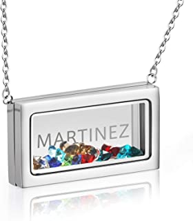 Best floating initial necklace Reviews