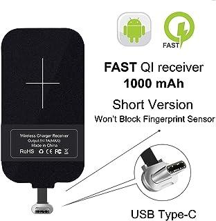 Tipo C Qi Receptor de carga inalámbrico, Ultra delgado USB C Qi Receptor de chip inalámbrico Receptor para Google Pixel XL / LG V20 / HTC 10 / OnePlus 3 y otros teléfonos tipo C de tamaño pequeño