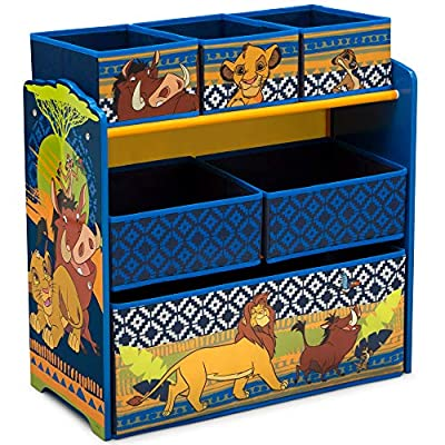 Delta Children Design and Store 6-Bin Toy Storage Organizer, Disney The Lion King