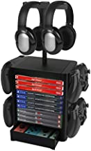 Number-one Game Storage Tower Bracket, Multifunction Gaming Disks Organizer Rack, Most Storage 10 Disk, 2 Headsets Stand 4...