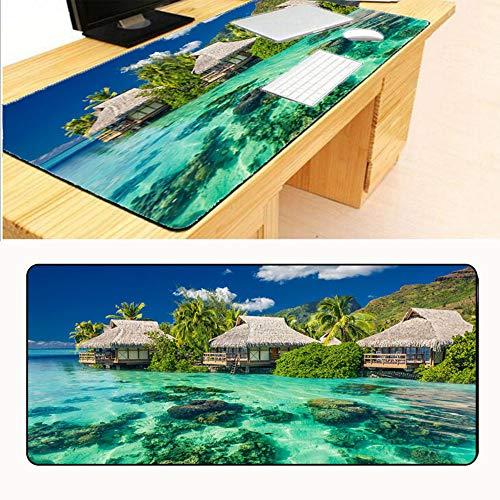 HonGHUAHUI Het strand aan zee muismat rand geblokkeerd muismat spel muismat 400x900X3MM A01.