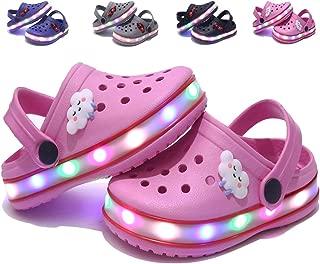 Kids Boys Girls LED Clogs Cute Lightweight Summer Slippers Garden Beach Sandals