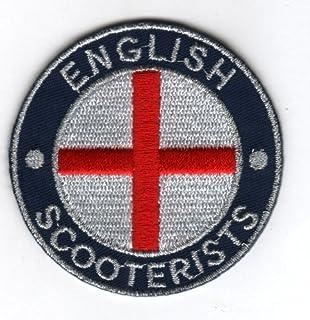 Toppa ricamata termoadesiva English Scooterist St. George bandiera distintivo