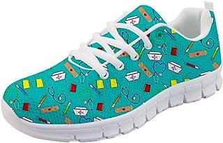 Woisttop Baskets tendance pour femme à lacets en maille aérienne légère Go Easy Walking Baskets