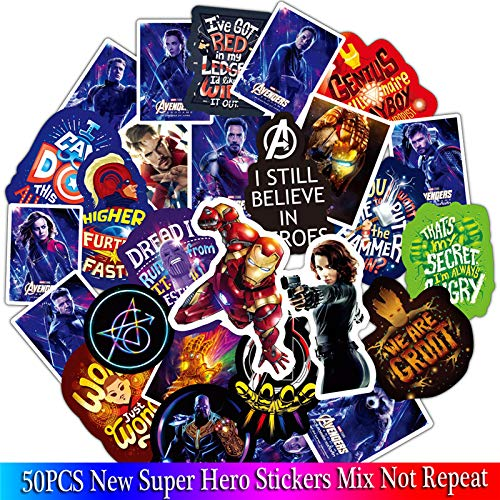 BLOUR Super Hero stickersets Cartoon Anime Spider Man sticker Lot voor laptop fiets telefoon gitaar marvel sticker verpakking 50 stuks