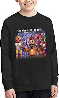 Kmehsv Five Nights at Freddy Boy's Long Sleeve Shirt - Camiseta de cuello redondo, color gris