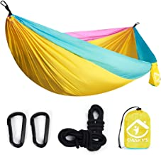oaskys Camping Hammock Double with 2 Tree Straps Made of Portable Lightweight Nylon Parachute for Backpacking,Travel,Beach...