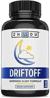 Driftoff 高级睡眠辅助,含瓦利里亚根和黑素——睡眠良好,唤醒清爽 - 非习惯成型睡眠补充品 - 还包含洋甘菊、硫磺、柠檬香和更多 - 60 粒素胶囊