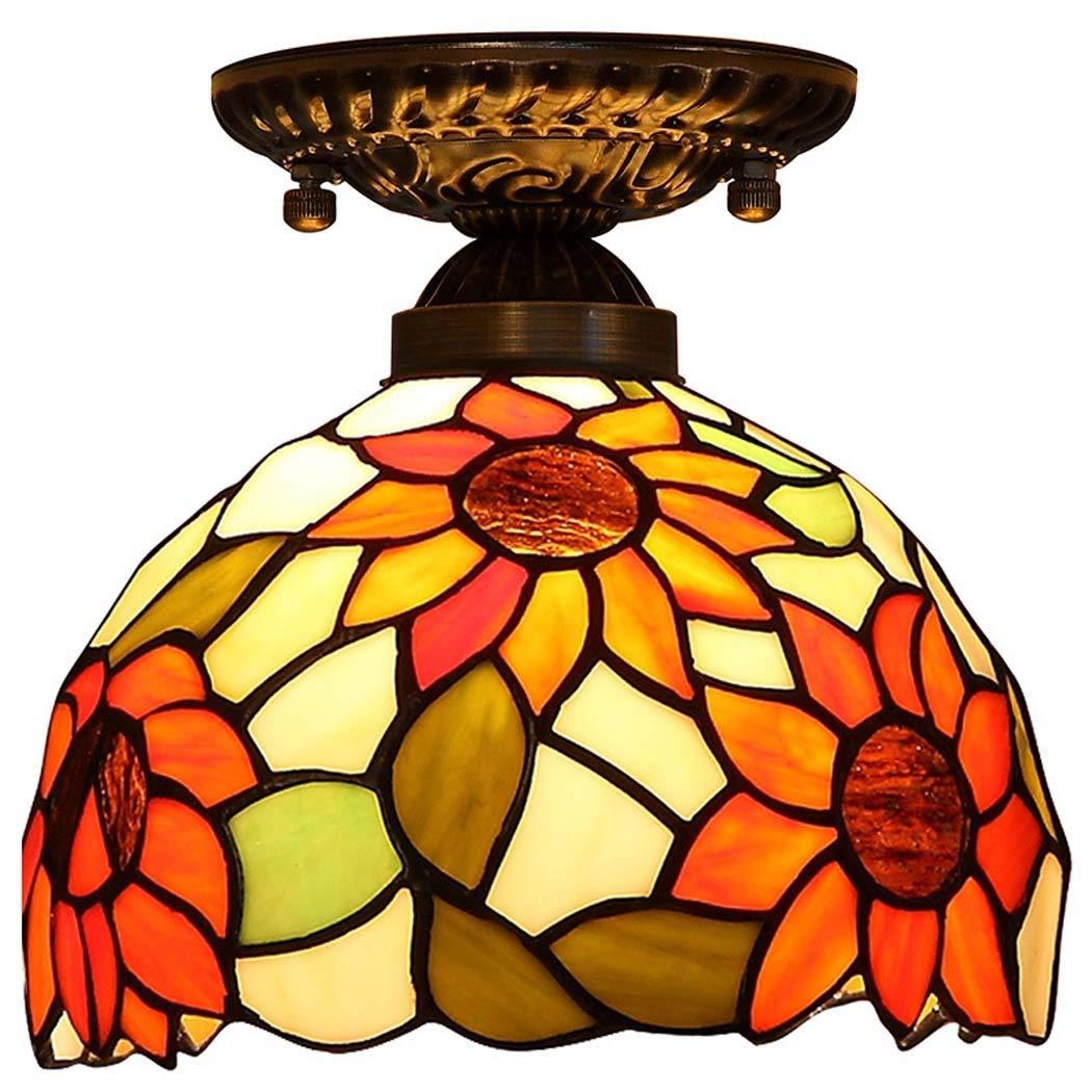 Lámpara de techo estilo Tiffany Luces de techo rústicas: Amazon.es ...