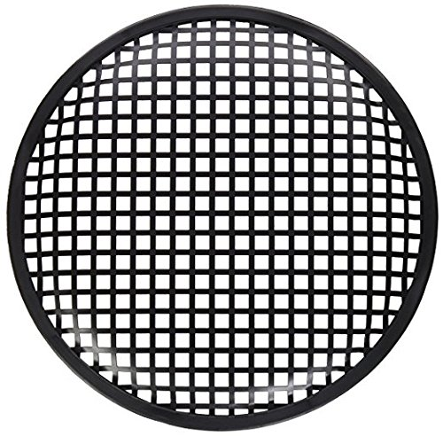 American Terminal ATG212 Pair of 12 Inch Universal Metal Car Audio Speaker Subwoofer Waffle Grill Protector Cover
