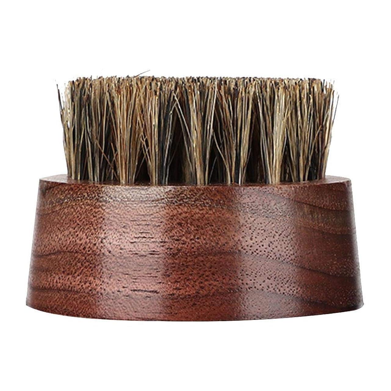 感情一時的再開ひげブラシ-プロの木製男性ラウンドくし
