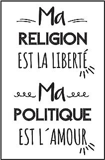 Ma Religion Est La Liberté, Ma Politique Est L´amour: Carnet De Notes, Un Cadeau Pour Sa Meilleure Amie, Pour Une Femme Ou Un Homme, Pour Un ... Positif À Un Être Cher (French Edition)