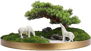 Artificial Plants Bonsai Pine Tree الترحيب الاصطناعي أغنية Yongsheng الطحلب المشهد زين بونساي محاكاة بوعاء الحلي لسطح المك...