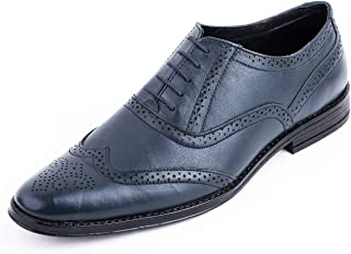 8d1adcf85be36 LOUIS STITCH Men's Formal Leather Brogue Shoes    Handmade Genuine Leather  Shoes for Men