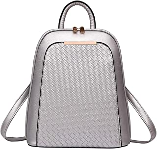 Luxury Women Backpack Tide Female Women Laptop Backpacks Large Capacity Pu Leather School Bags Silver