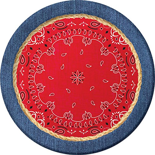 "Creative Converting Dinner Plates, 8.75"", Red"