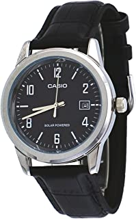 Casio Standard for Unisex - Analog Leather Band Watch - MTP-VS01L-1B2
