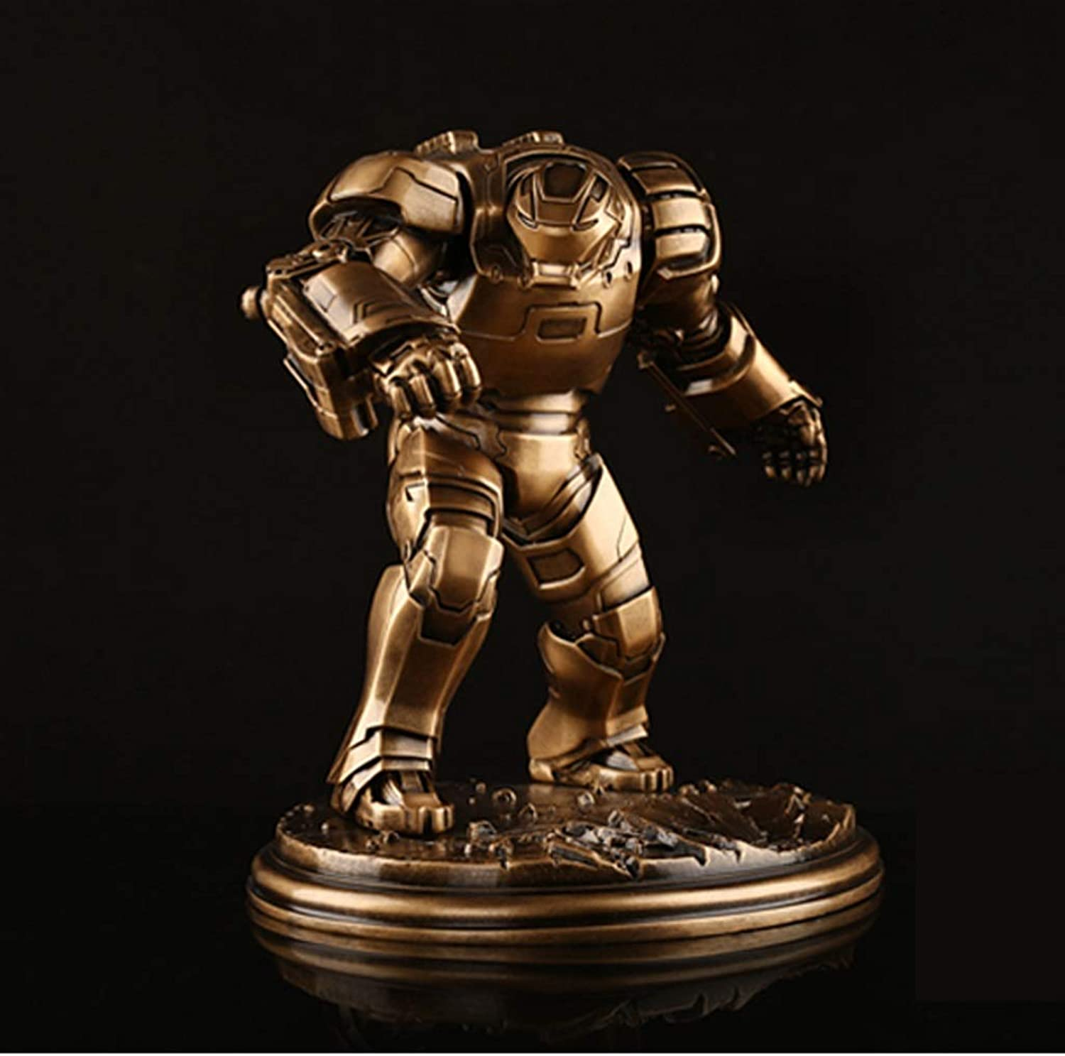 XJRHB Iron Man Qiu Zhe Allianz Iron Man Puppe Modell GK Harz Statue Anime Dekoration 28,5 cm